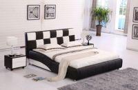 Platform Leather Bed
