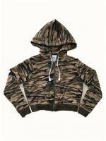 Cotton fleece zip hoodie