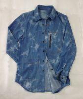 Cotton denim shirt.