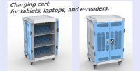 ipad, tablets, laptops charging cart for school, classroom