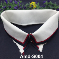 Flat rib knit trimmings stripes collar cuffs for jersey jacket