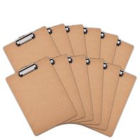 Office letter size mdf wooden clipboard Low Profile Clip