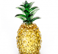 Crystal Glass Pineapple Model Craft For Crystal Decoration