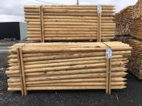 Canadian Northern White Cedar logs and debarked posts