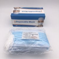 Protective blue white color 3 ply face mask disposable for drugstore