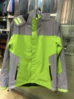 Mens waterproof jacket hi vis outerwear windproof breathable function