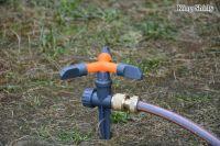 rotary plastic water sprinkler on spike