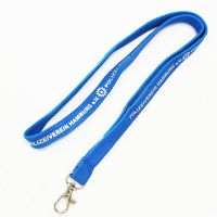 Tubular Lanyard with Shiny Ball and Lobster Claw