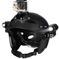 Comfy Practical Water Sports Helmet With Camera Mount And LED Light Troffer