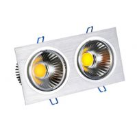 Double head Grille lights  CRI 90 SAA CE RoHS TUV adjustable square LED downlight spotlight ceiling light COB
