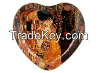 Decorative Plate- Klimt- The Kiss- 18X19Cm