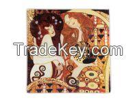 Decorative Plate- Klimt- Friends- 13X13Cm