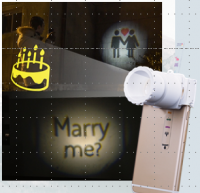 Smartphone Analogue Projector