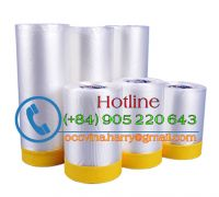 Pretaped cloth masking film