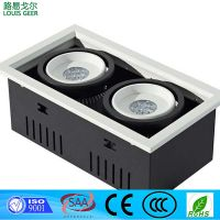 20W two gang led grille light down light for indoor retail lighting solution