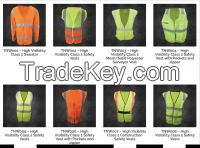 High Visibility Class 2 Safety Vests