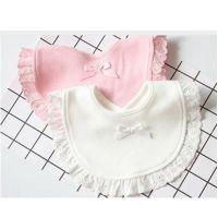 Fashion new born cotton drawstring baby bibs Slabbetjes cute girls and kids Burp cloth bibs Baby Saliva Towels