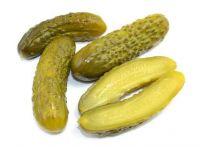 Fresh pickling cucumbers / Baby gherkins in brine
