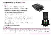 fiber access terminals closure