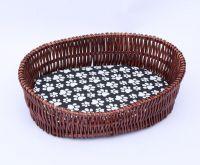 Giliglue Wicker Dog Basket for Pet Sleeping XL