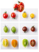 Red Yellow Black Green Orange Color Cherry Fresh Tomato