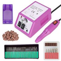 Sell Finger Toe Nail Care Electric Nail Drill Machine Manicure Pedicure Kit Nail Art File Drill with 100pcs of Sanding Bands 30pcs Drill Bits
