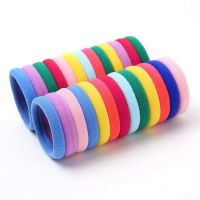 Sell 50pcs/set Seamless 6mm High Elastic Cotton stretch Hair Ties Bands Rope Ponytail Holders Headband Scrunchie Hair Accessories