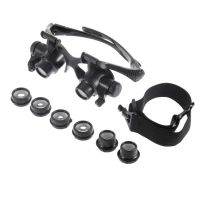 Sell Magnifying Glasses with Light 10X 15X 20X 25X High Powered Magnifier Eye Glasses Loupe for Watch Jewelry Repair