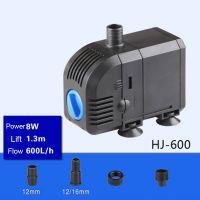 Sell 8W 600L H  Lift 1.3m Multi Function Submersible Fountain Pump for Aquarium  Black HJ600