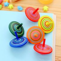 Child Classic Toy Rotating Wooden Spinning Top Gyroscope Toy