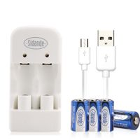 Sidande USB CR2 Battery Charger Kit With 2pcs CR2 3V Battery