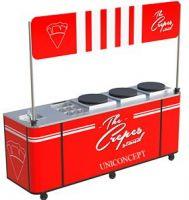 Crepe machine with kiosk cart