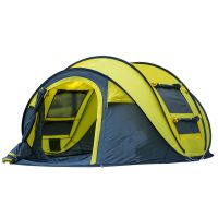 Hot Sale Easy to Set up and Quick Opening Pop up Waterproof Camping Hiking Fishing Beach Tent for Four Season