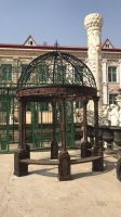 Simple column cast iron gazebo
