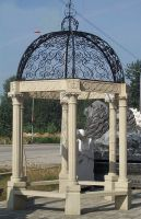 Simple column natural stone gazebo