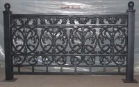 Cast iron fence and railings with posts