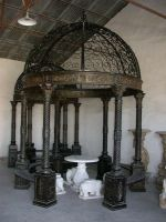 Beautiful cast iron outdoor gazebo