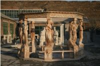 Beautiful hand carved natural stone garden gazebo