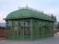 Classic garden iron greenhouse