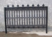 Cast iron protective fences and railings