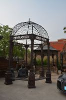 Nice column cast iron gazebo