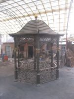 Nice hexagon cast iron garden gazebo
