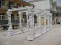 Beautiful hand carved stone figure arbour