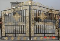 Beautiful iron driveway gate