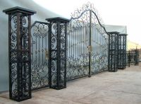 Good quality wrought iron driveway gate