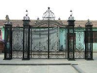 Nice iron driveway gate