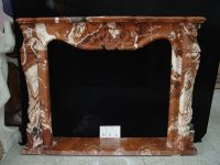 Beautiful hand carved stone mantel