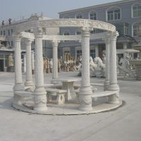 Nice hand carved outdoor gazebo
