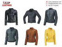 Custom made Fashion Women/Ladies Genuine Sheepskin Leather Jacket/Ladies Biker Leather Jackets