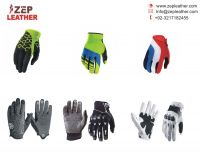 custom made Full Finger Sports Gloves/men motorbike leather gloves/custom professional wind able motocross gloves